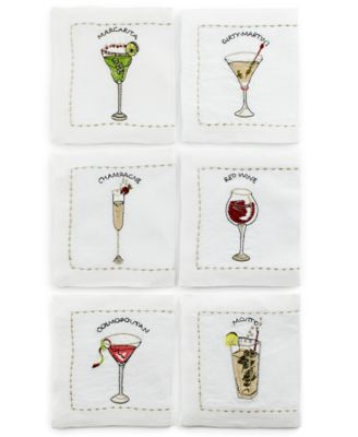Kim Seybert Table Linens, Set of 6 Drink Cocktail Napkins