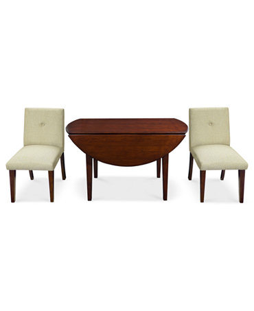 Addison Dining Room Furniture 3 Piece Set Round Dining Table And 2 Chairs