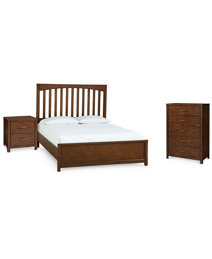 Furniture - Ashford Cinnamon Bedroom , 3-Pc. Set (King Bed, Nightstand & Chest)