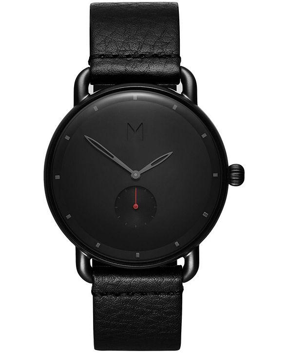 MVMT Men's Revolver Basin Black Leather Strap Watch 41mm