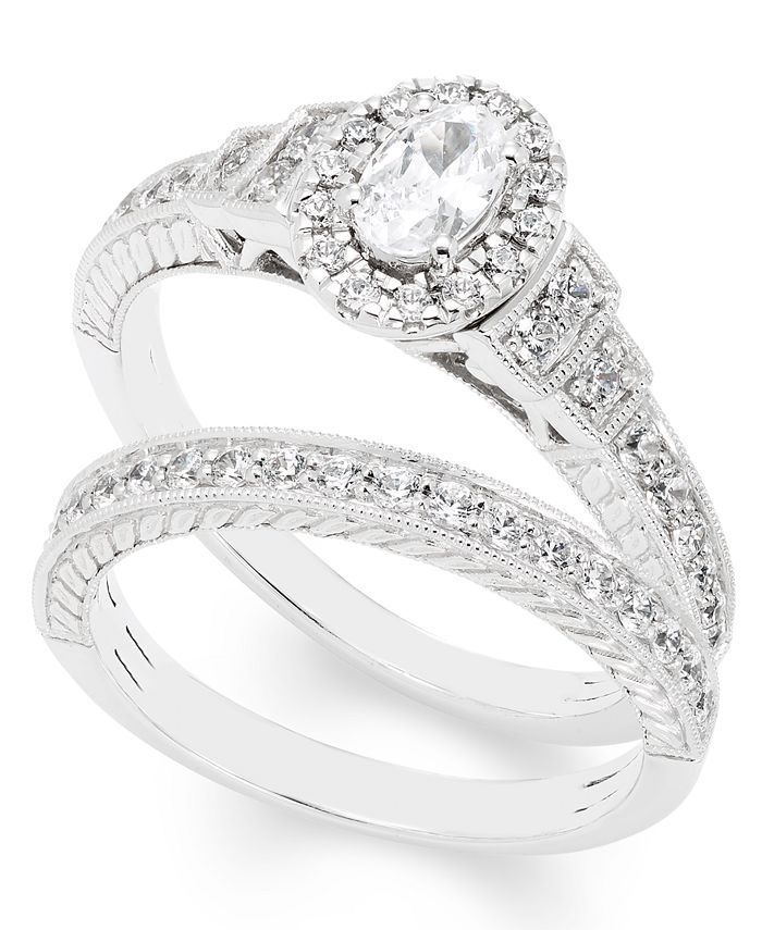 Macy's - Certified Diamond (1 ct. t.w.) Bridal Set in 14k White Gold