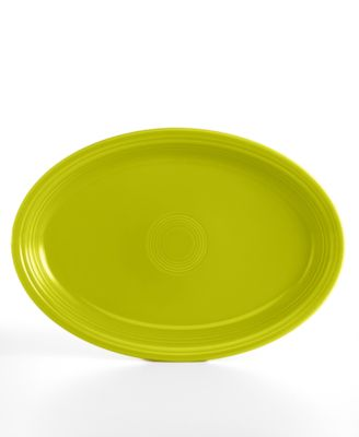 "Fiesta Lemongrass 19"" Oval Serving Platter"