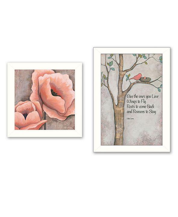 "Trendy Decor 4U Ones You Love 2-Piece Vignette by Kenda Runnels, White Frame, 14"" x 20"""