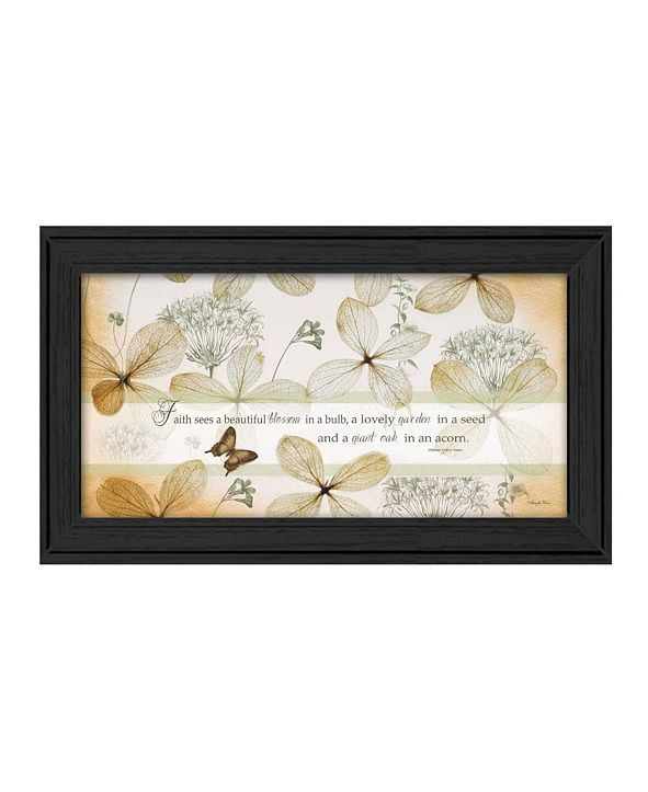 "Trendy Decor 4U Faith Sees By Robin-Lee Vieira, Printed Wall Art, Ready to hang, Black Frame, 21"" x 12"""