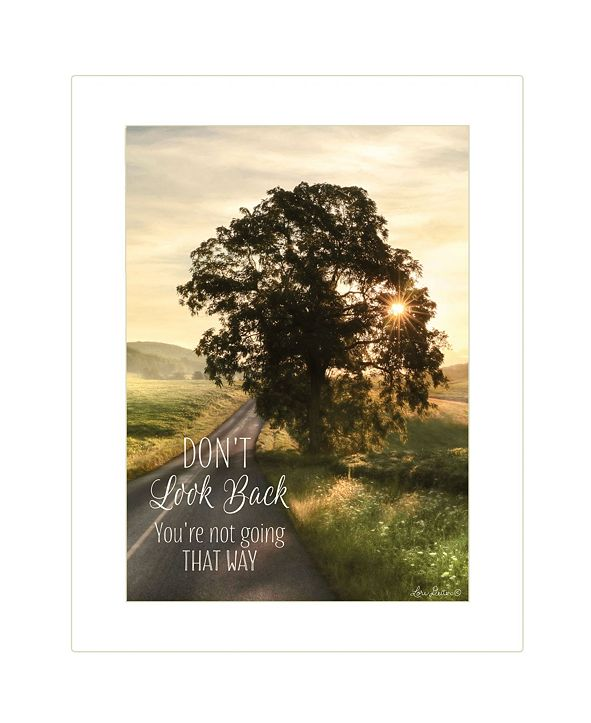 "Trendy Decor 4U Don't Look Back by Lori Deiter by Lori Deiter, Ready to hang Framed Print, White Frame, 14"" x 18"""
