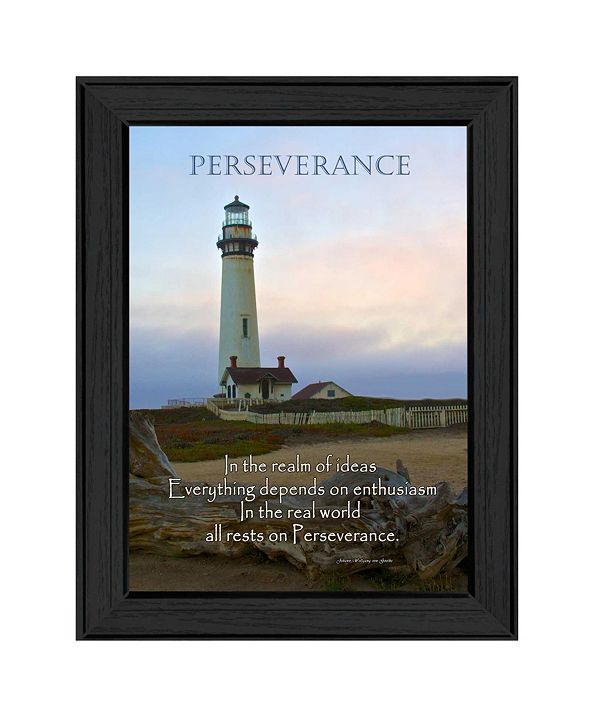 "Trendy Decor 4U Perseverance By Trendy Decor4U, Printed Wall Art, Ready to hang, Black Frame, 10"" x 14"""