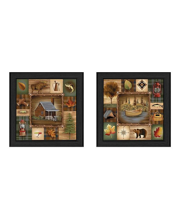 """Trendy Decor 4U Up North Collection By Ed Wargo, Printed Wall Art, Ready to hang, Black Frame, 21"""" x 21"""""""