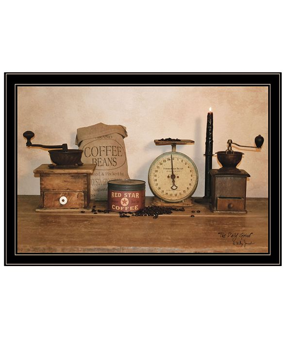 """Trendy Decor 4U The Daily Grind by Billy Jacobs, Ready to hang Framed Print, Black Frame, 33"""" x 23"""""""