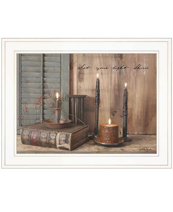 "Trendy Decor 4U Let Your Light Shine by Billy Jacobs, Ready to hang Framed Print, White Frame, 19"" x 15"""