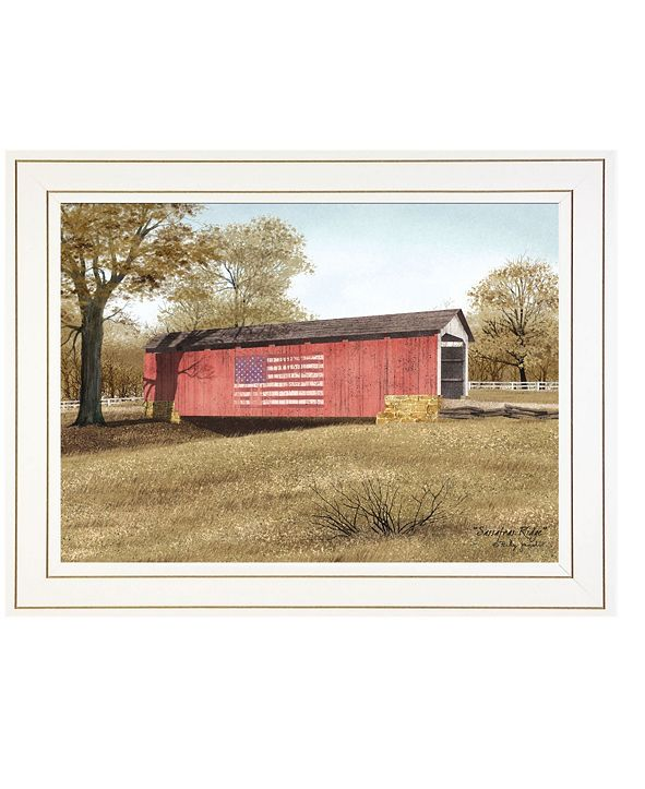 "Trendy Decor 4U Sassafras Ridge by Billy Jacobs, Ready to hang Framed print, White Frame, 21"" x 15"""