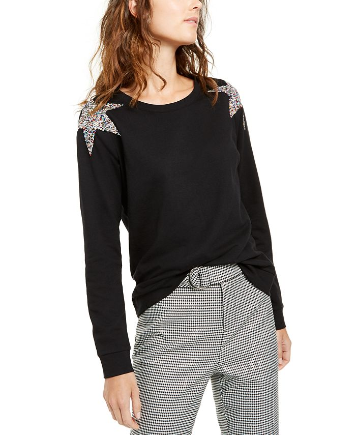 INC International Concepts - Star-Shoulder Sweatshirt