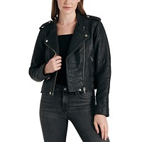 Lucky Brand Pebble Leather Moto Jacket