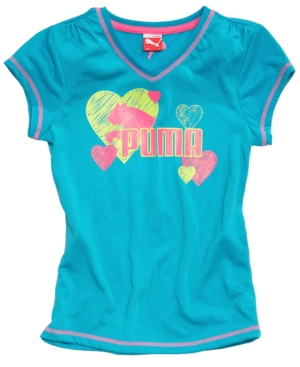 Puma Kids TShirt Little Girls Graphic Tee