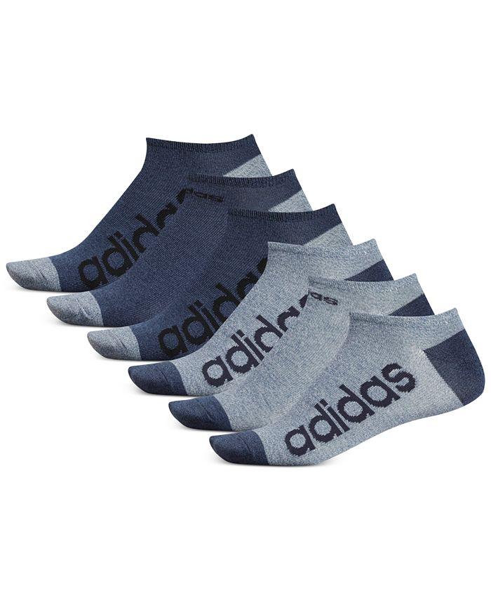 adidas - Men's 6-Pk. Superlite Linear No-Show Socks