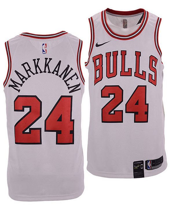 Nike Men's Lauri Markkanen Chicago Bulls Association Swingman Jersey