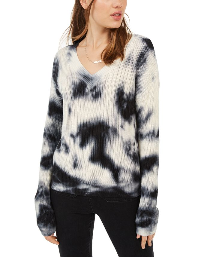 Hooked Up by IOT - Juniors' Tie-Dyed Pullover Sweater