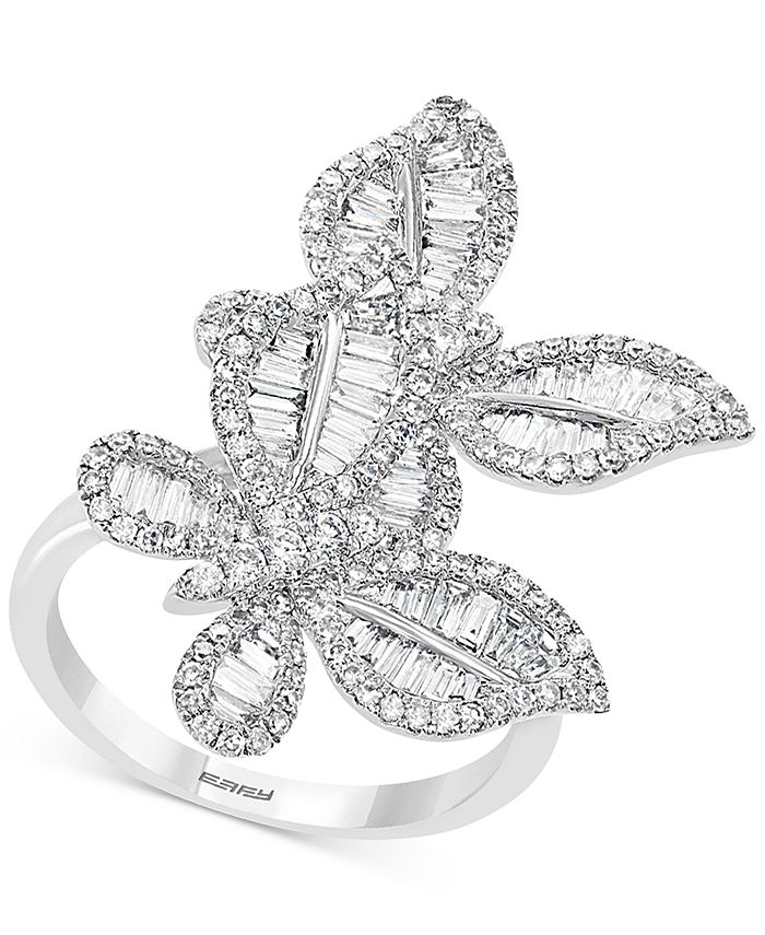 EFFY Collection - Diamond Butterfly Statement Ring (1-3/8 ct. t.w.) in 14k White Gold