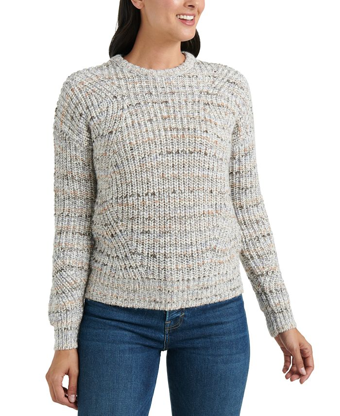 Lucky Brand - Marled-Knit Crewneck Sweater