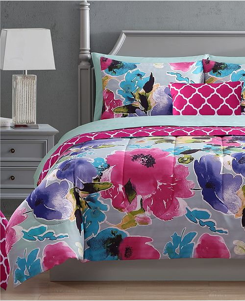 Hallmart Collectibles Ada 12 Pc Reversible Comforter Sets Reviews Bed In A Bag Bed Bath Macy S
