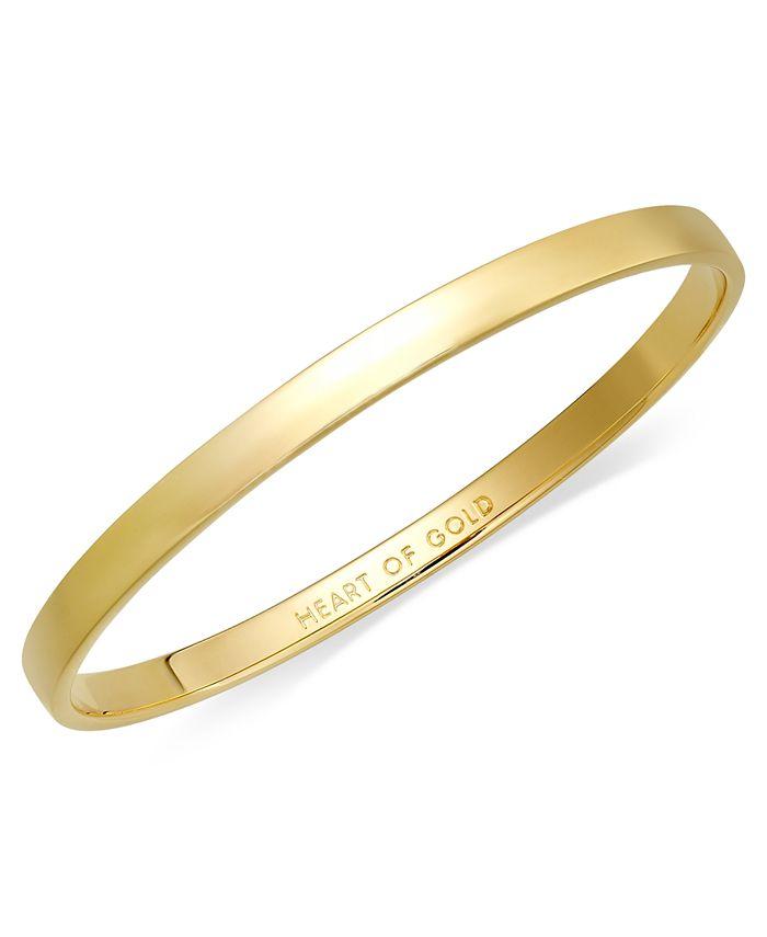 kate spade new york - Bracelet, 12k Gold-Plated Heart of Gold Idiom Bangle Bracelet