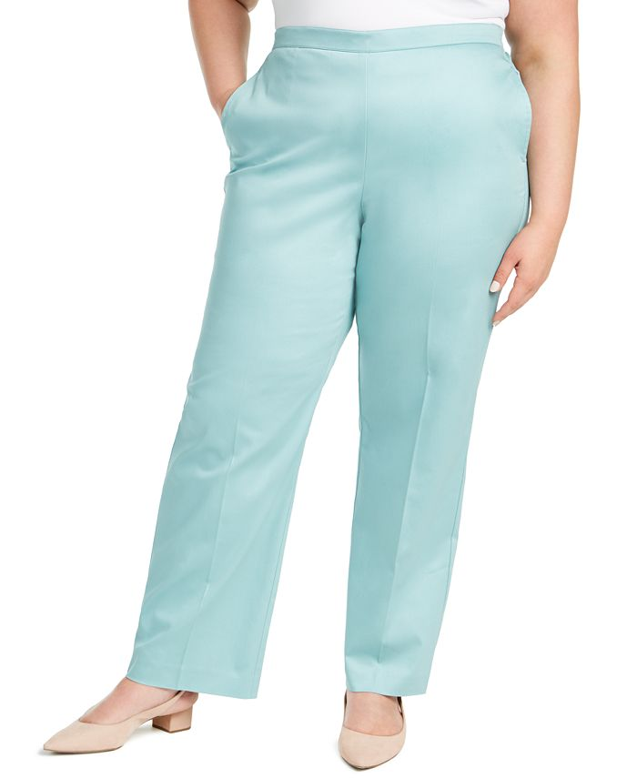 Alfred Dunner - Plus Size Cottage Charm Sateen Pants