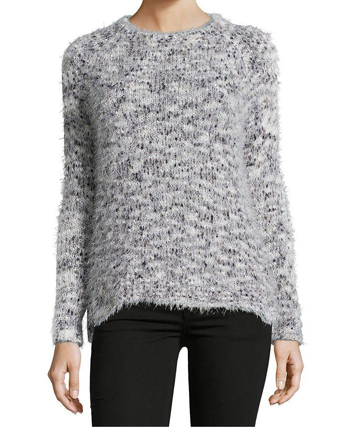 John Paul Richard - Petite Eyelash-Knit Sweater