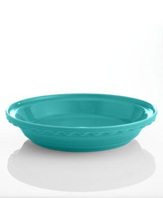"Fiesta Turquoise 10.25"" Deep Dish Pie Baker"