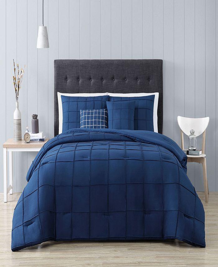 Geneva Home Fashion - Nelli 5pc King Size Comforter with Throw Pillows