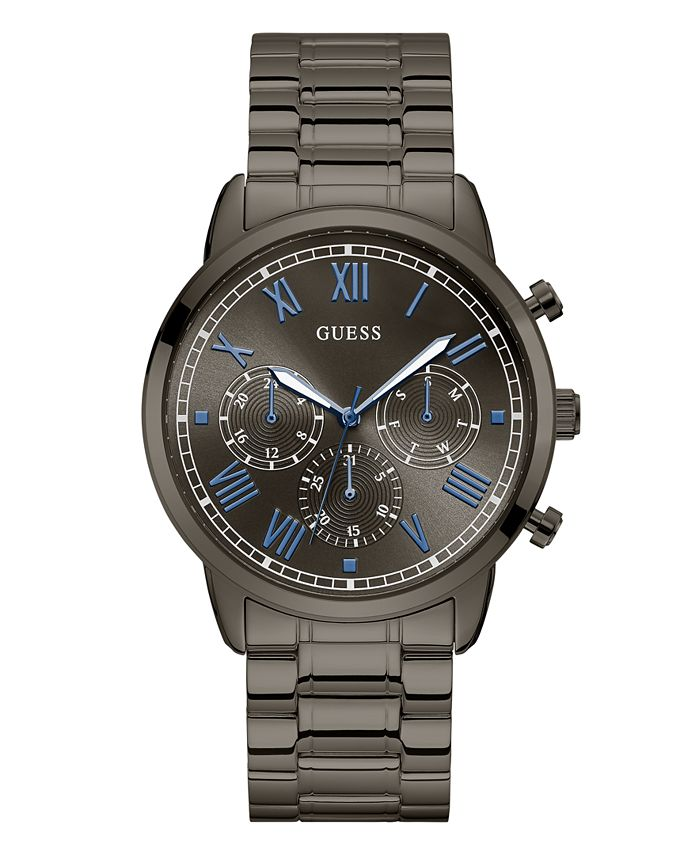 GUESS - Gunmetal-Tone Stainless Steel Multi-Function Watch
