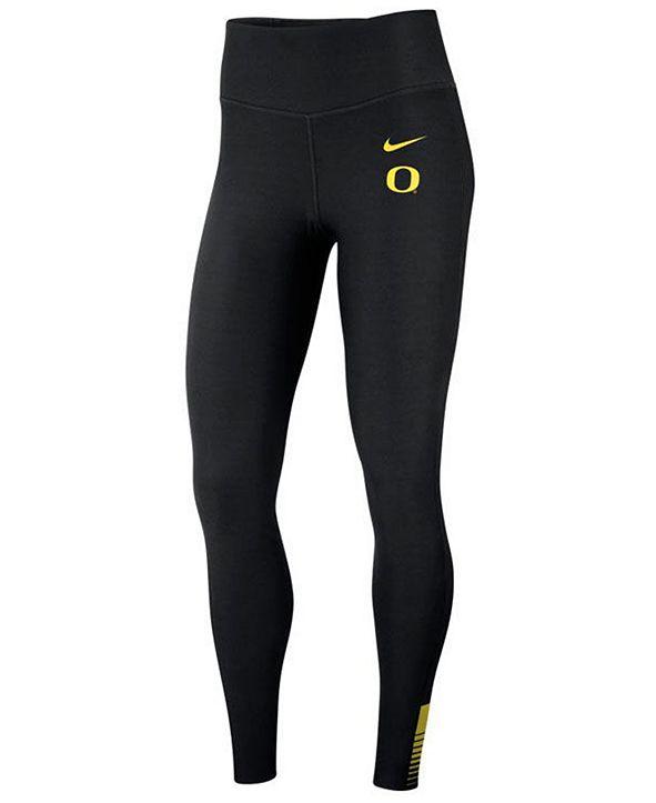 Nike Women's Oregon Ducks Power Sculpt Leggings