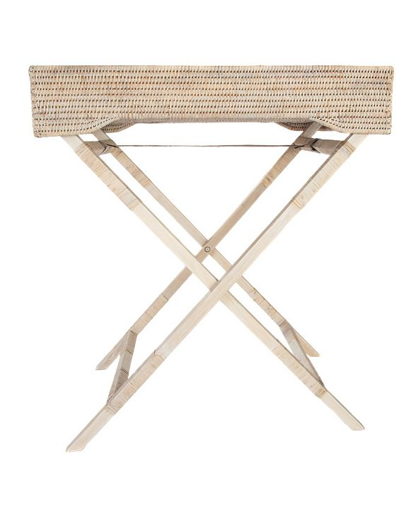 Artifacts Trading Company Rattan Butler Tray and Table