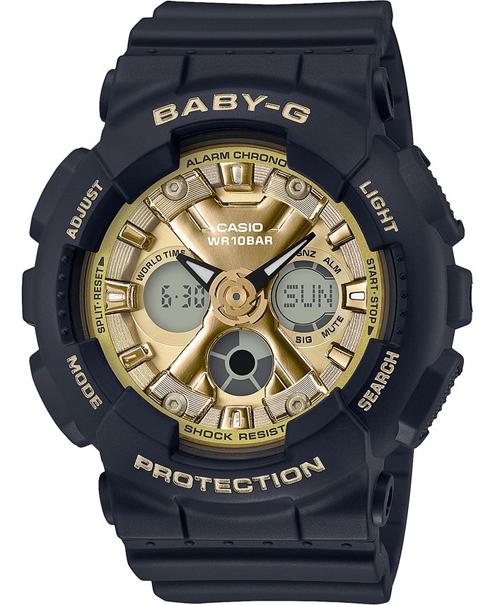 G-Shock - Women's Analog-Digital Black Resin Strap Watch 43.3mm