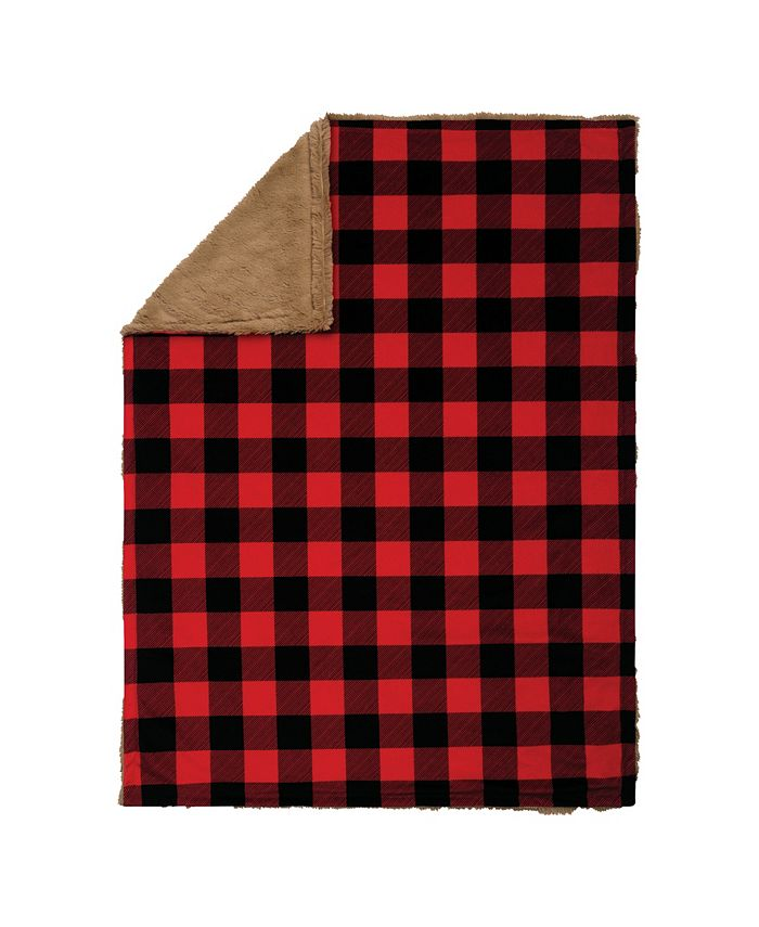 Trend Lab - Buffalo Check Plush Baby Blanket