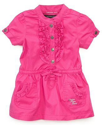 Calvin Klein Baby Dress, Baby Girls Woven Dress with Bloomers