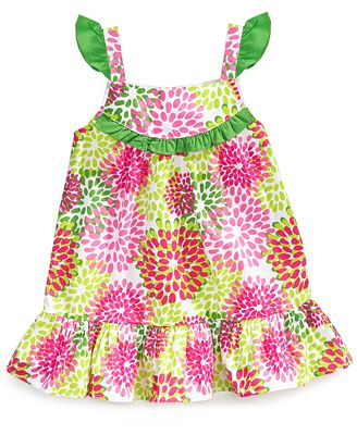Lilybird Baby Dress, Baby Girls Flower Dress and Diaper Cover