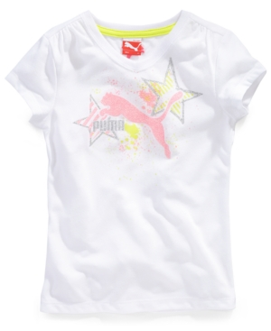 Puma Kids TShirt Little Girls Splatter Graphic Tee
