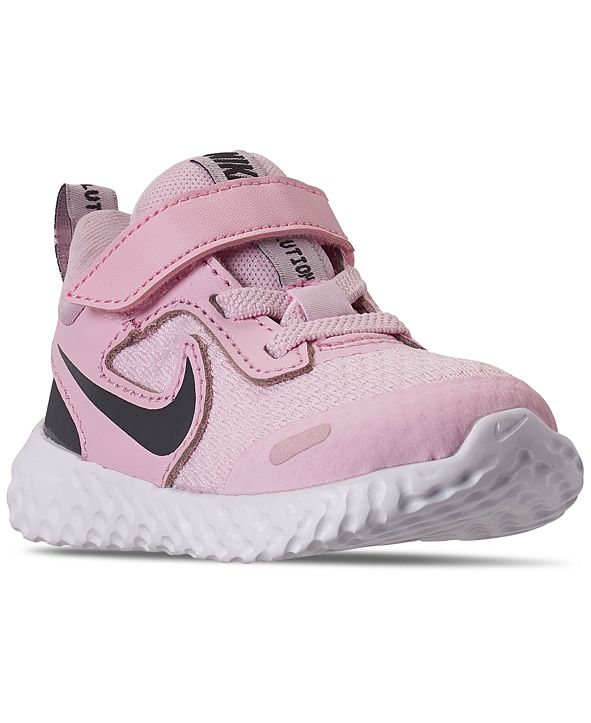 Nike Toddler Girls Revolution 5 Stay-Put Closure Running Sneakers from Finish Line