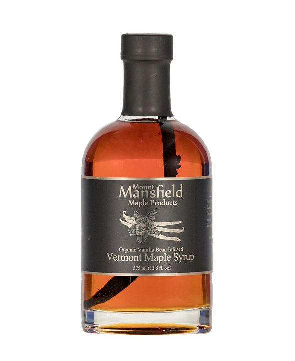 Mount Mansfield Maple Products Vanilla Bean Infused Organic Vermont Maple Syrup, 375 ml