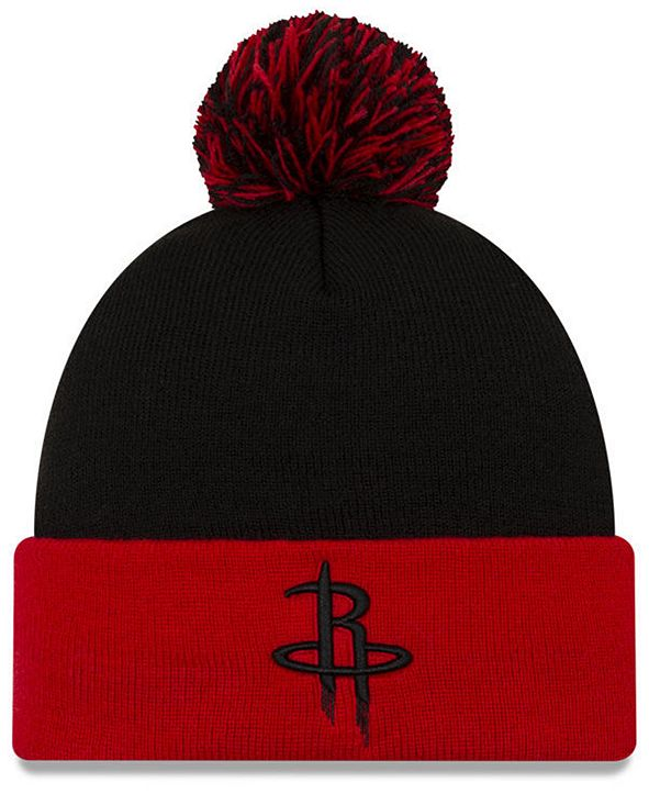 New Era Houston Rockets Black Pop Knit Hat