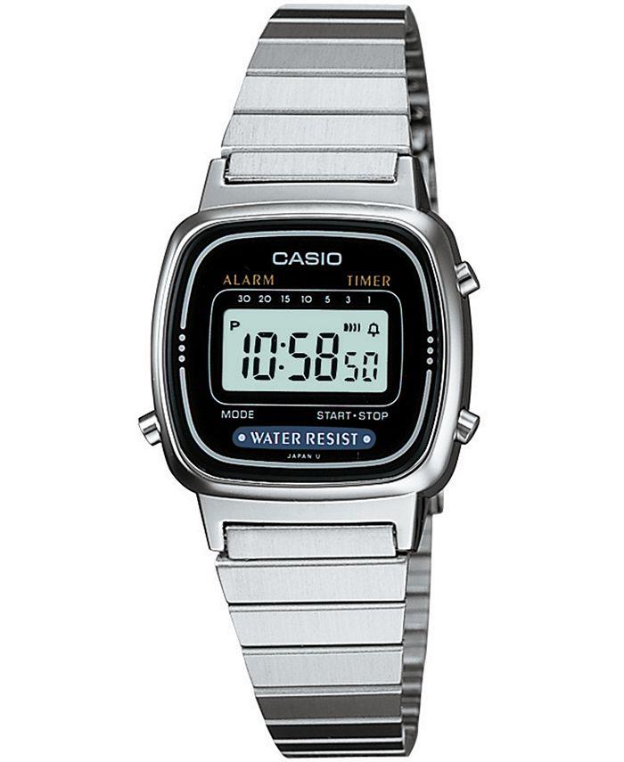 Casio - Unisex Digital Stainless Steel Bracelet Watch 25mm