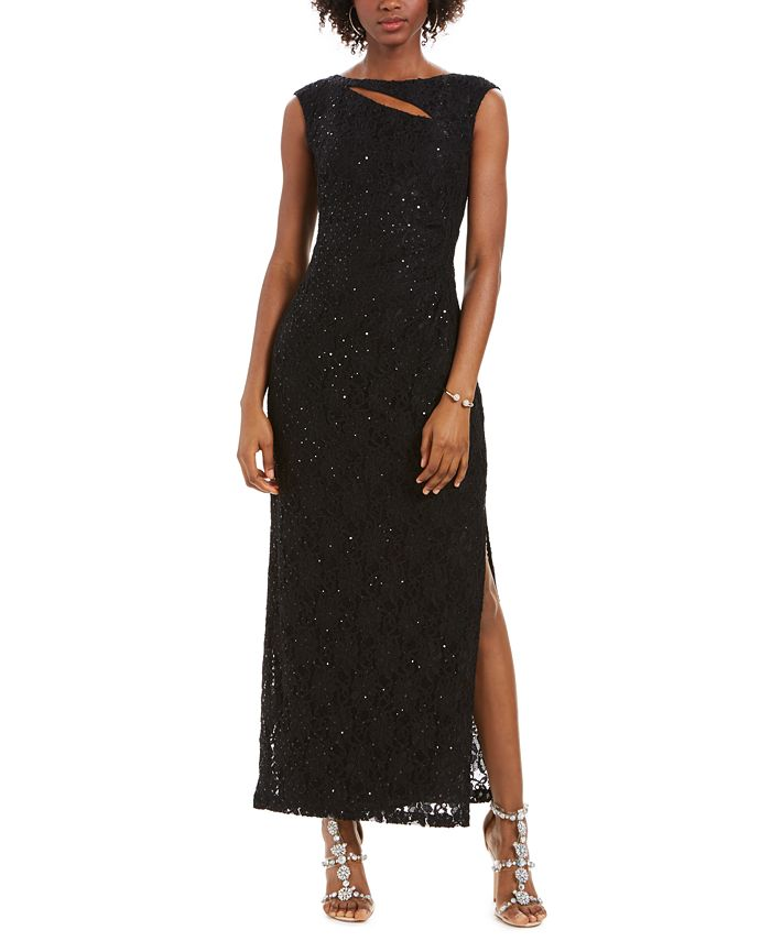 Connected - Cutout Sequined Lace Gown