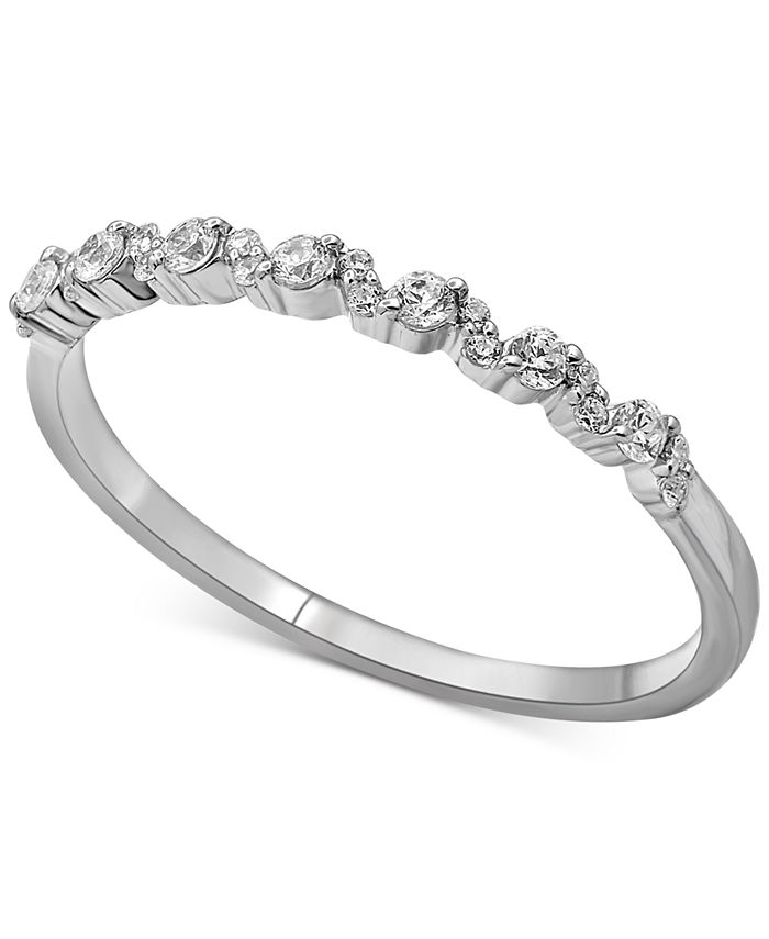 Macy's - Diamond Stacking Band (1/5 ct. t.w.) in 14k White Gold