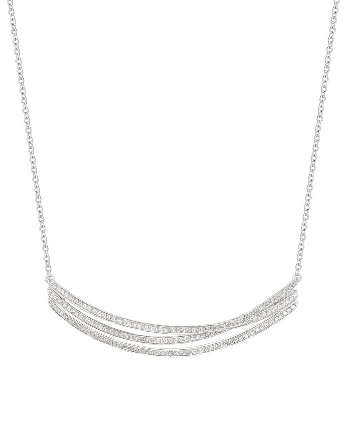 Macy's - 3/4 ct. t.w. Round Shape Diamond Necklace in 14k White Gold