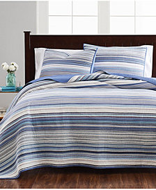 Martha Stewart Collection Coastal Yarndye Quilt Collection, Created for Macy's