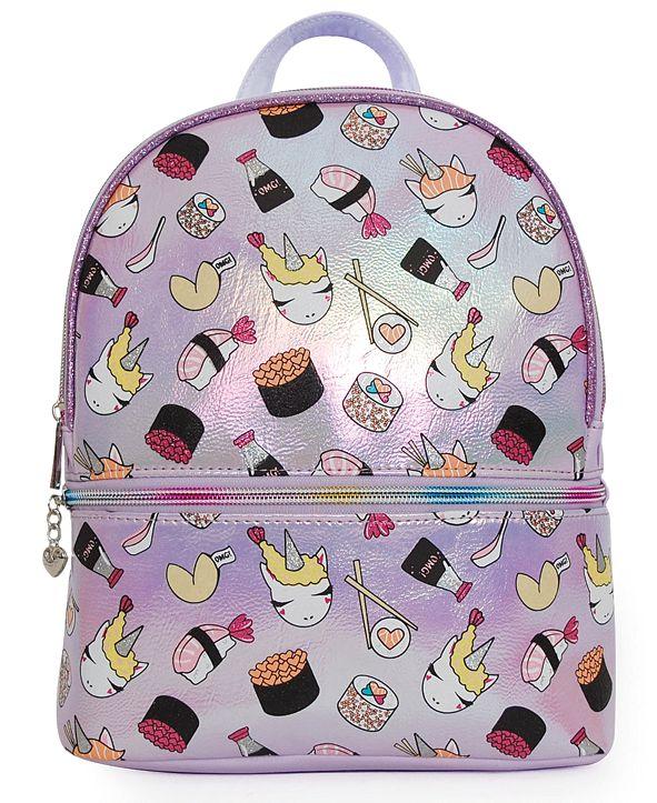OMG! Accessories OMG Accessories Sushi Unicorn Hologram Mini Backpack