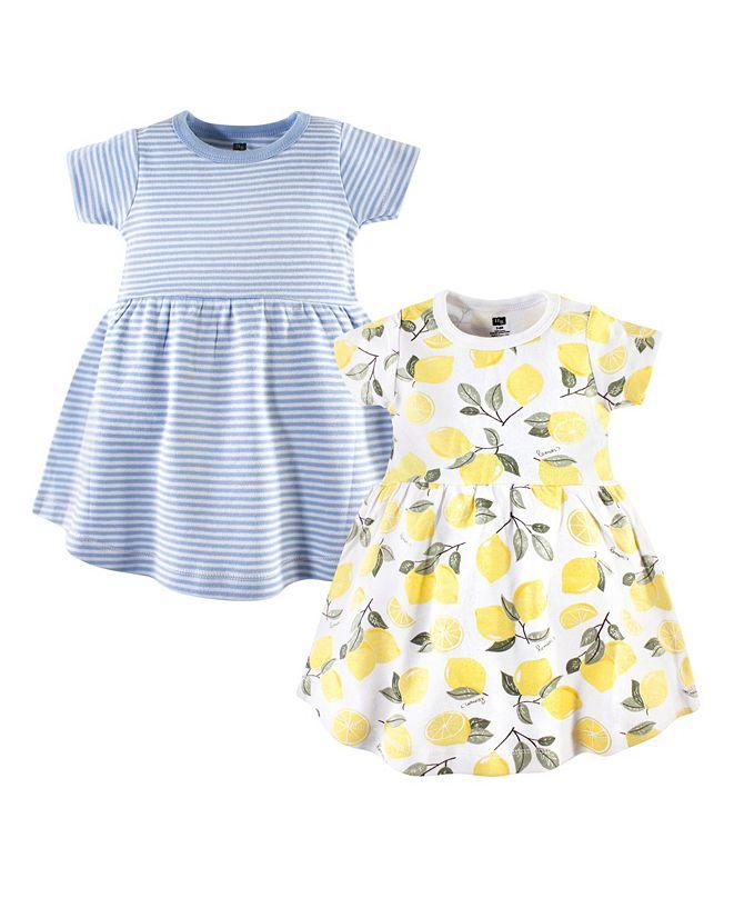 Hudson Baby Baby Girl Cotton Dress, 2-Pack