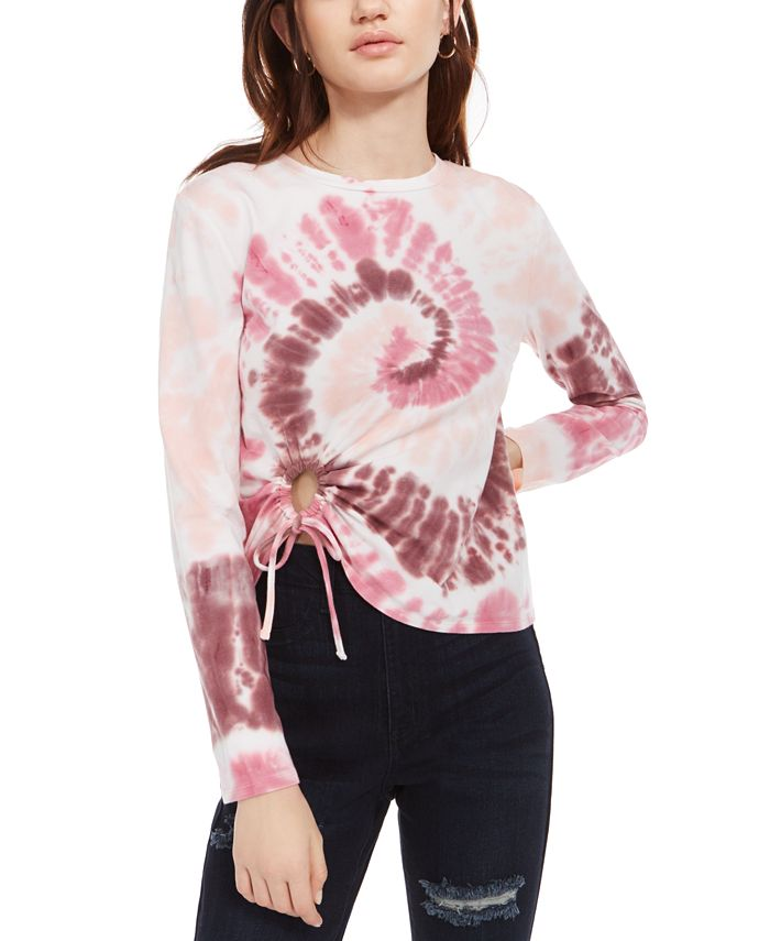 Self Esteem - Juniors' Tie-Hem Tie-Dyed T-Shirt