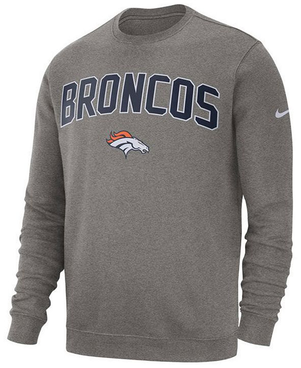 Nike Men's Denver Broncos Fleece Club Crew Sweatshirt