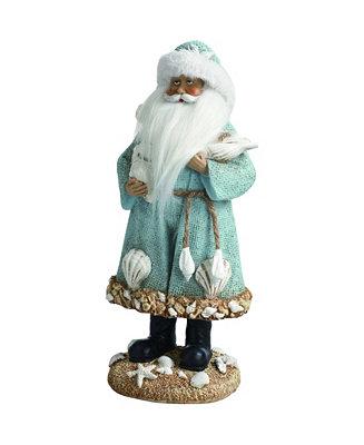 Trans Pac Resin White Christmas Coastal Santa Figurine Reviews Shop All Holiday Home Macy S