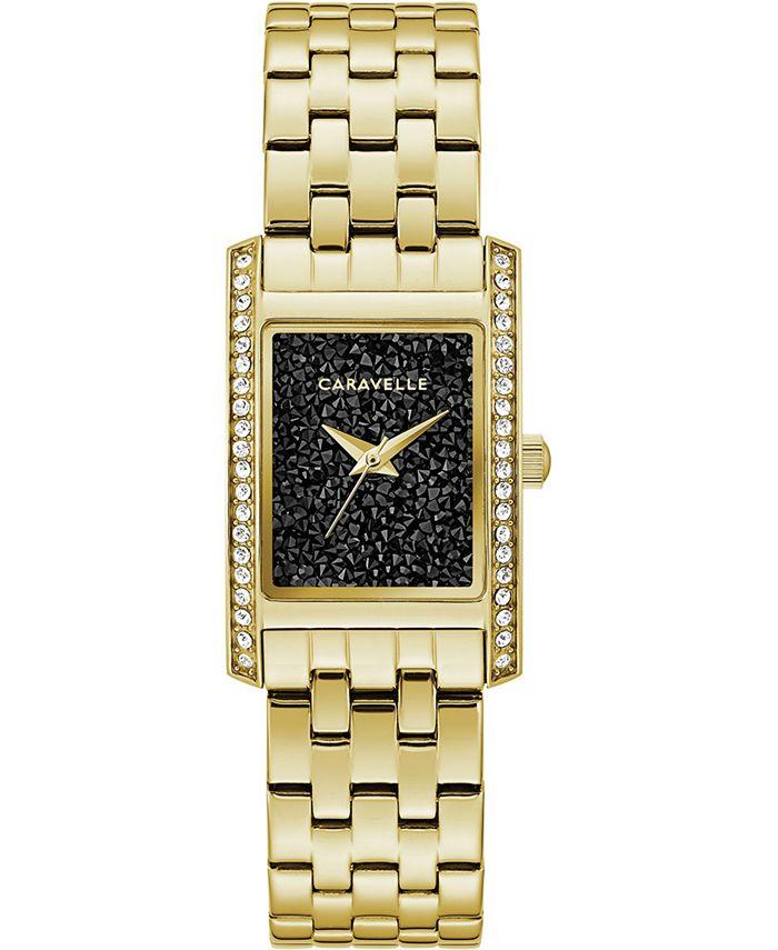 Caravelle - Women's Gold-Tone Stainless Steel Bracelet Watch 21x33mm